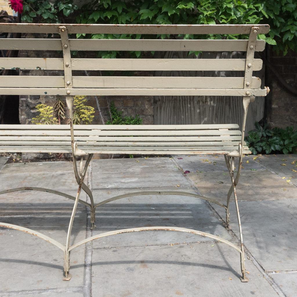 Wrought iron garden bench, -115963
