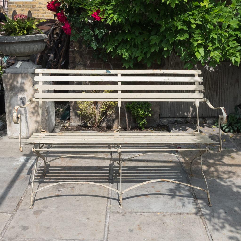 Wrought iron garden bench, -115964
