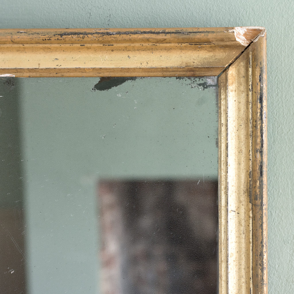 Small French gilt wall mirror,-116882