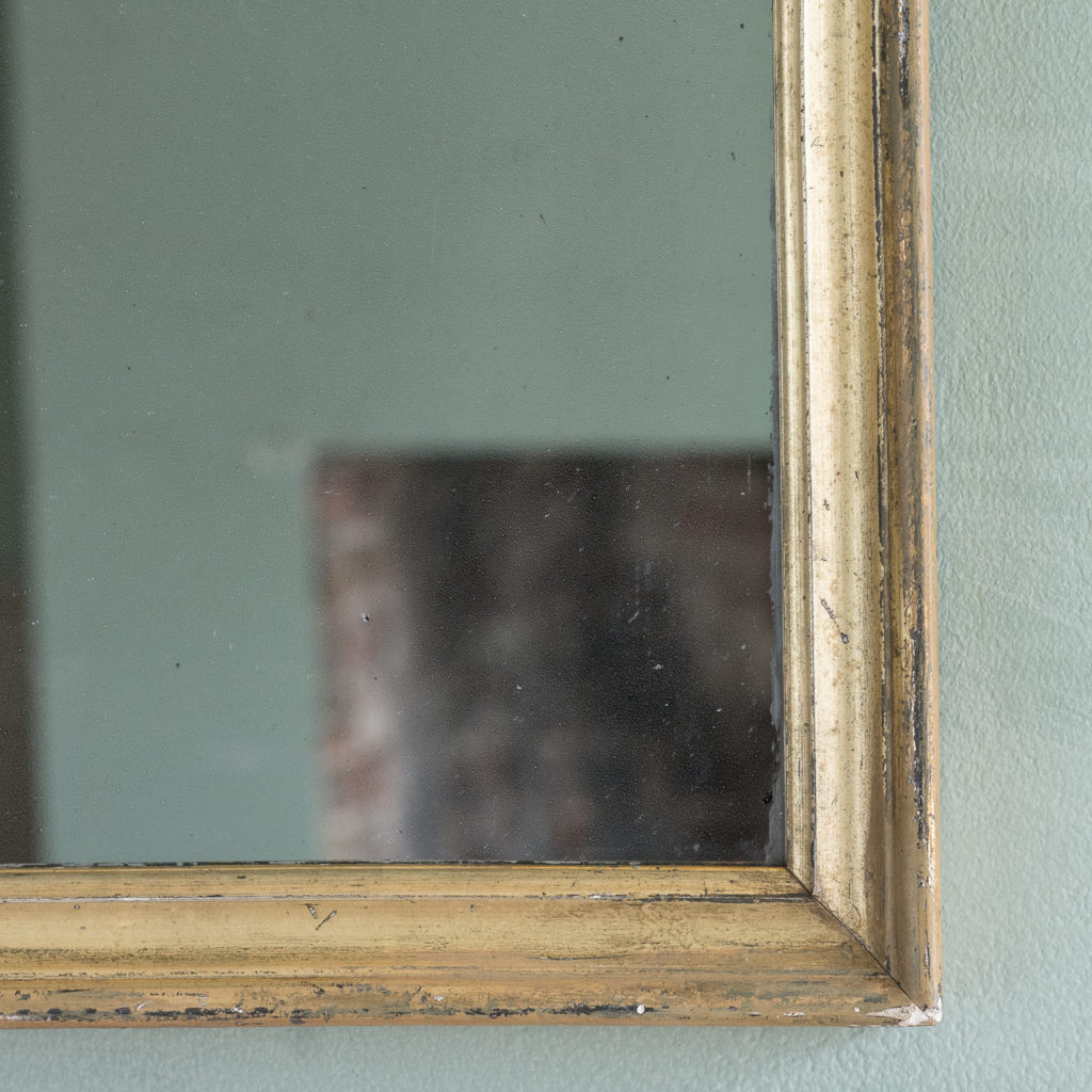 Small French gilt wall mirror,-116885
