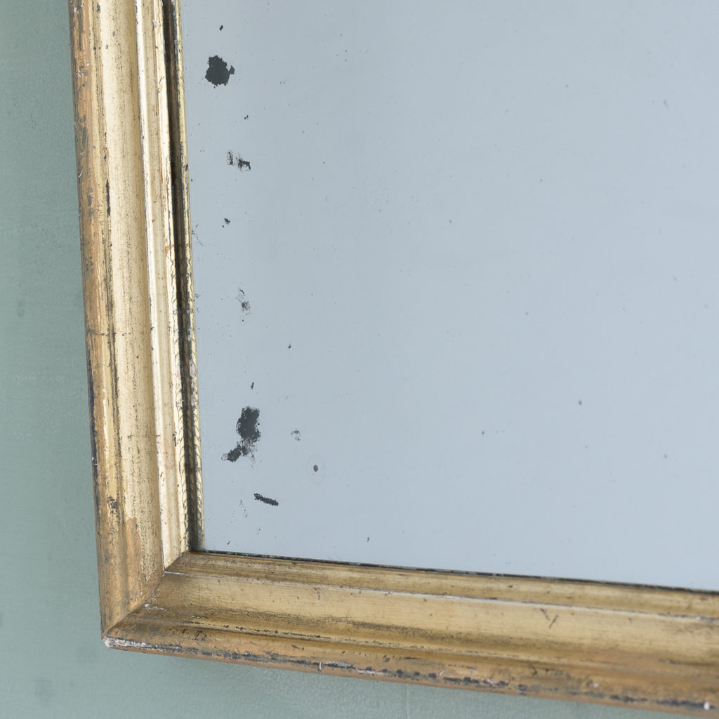 Small French gilt wall mirror,-116884