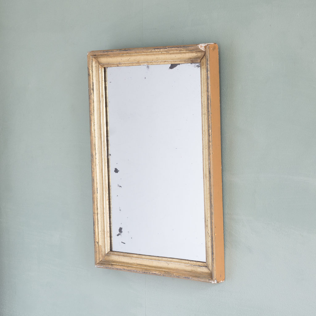 Small French gilt wall mirror,-116887