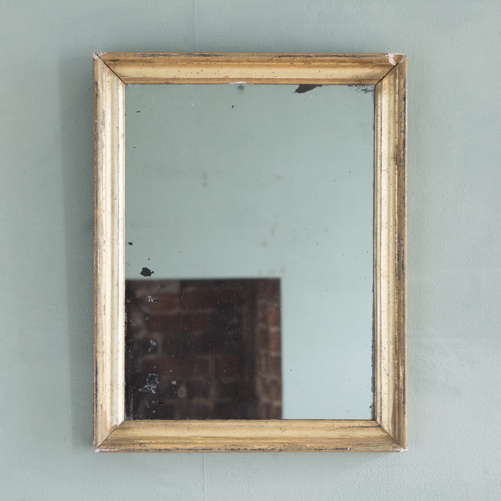 Small French gilt wall mirror,-0