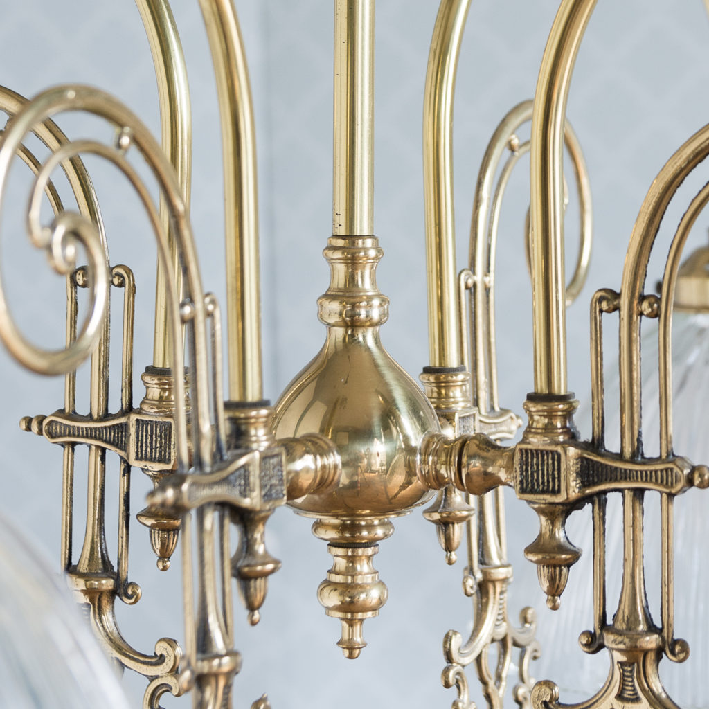 Mid-Victorian style 'gasolier' ceiling lights, -116819
