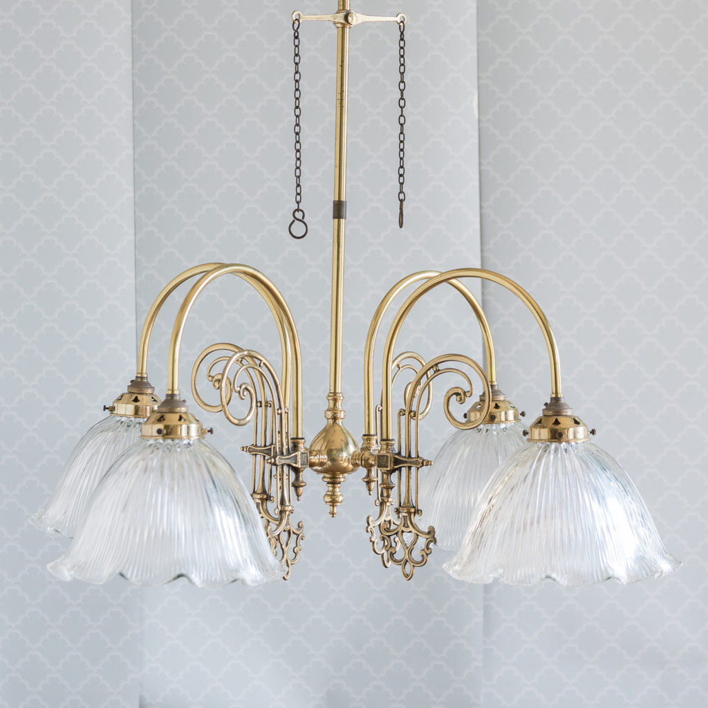 Mid-Victorian style 'gasolier' ceiling lights, -116816