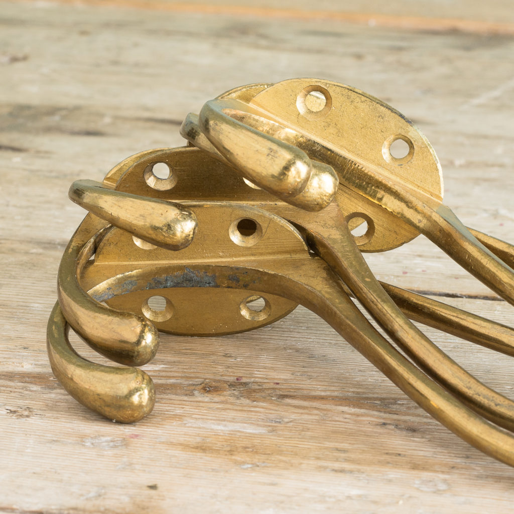 Lacquered brass coat hooks-117097