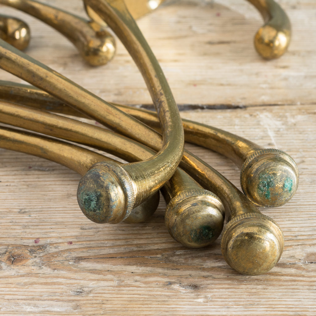 Lacquered brass coat hooks-117099