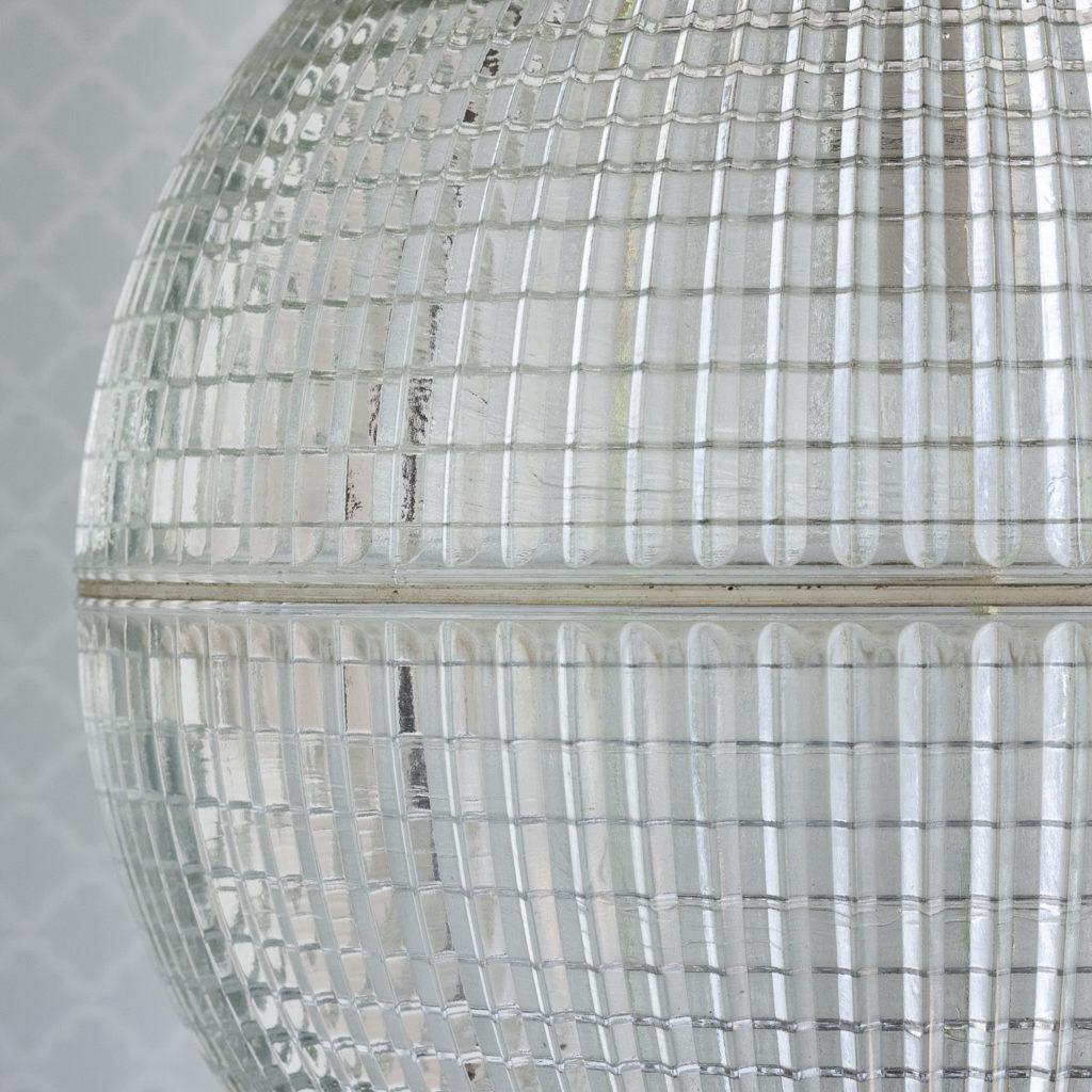 Small French Holophane globe pendant lights,-116970