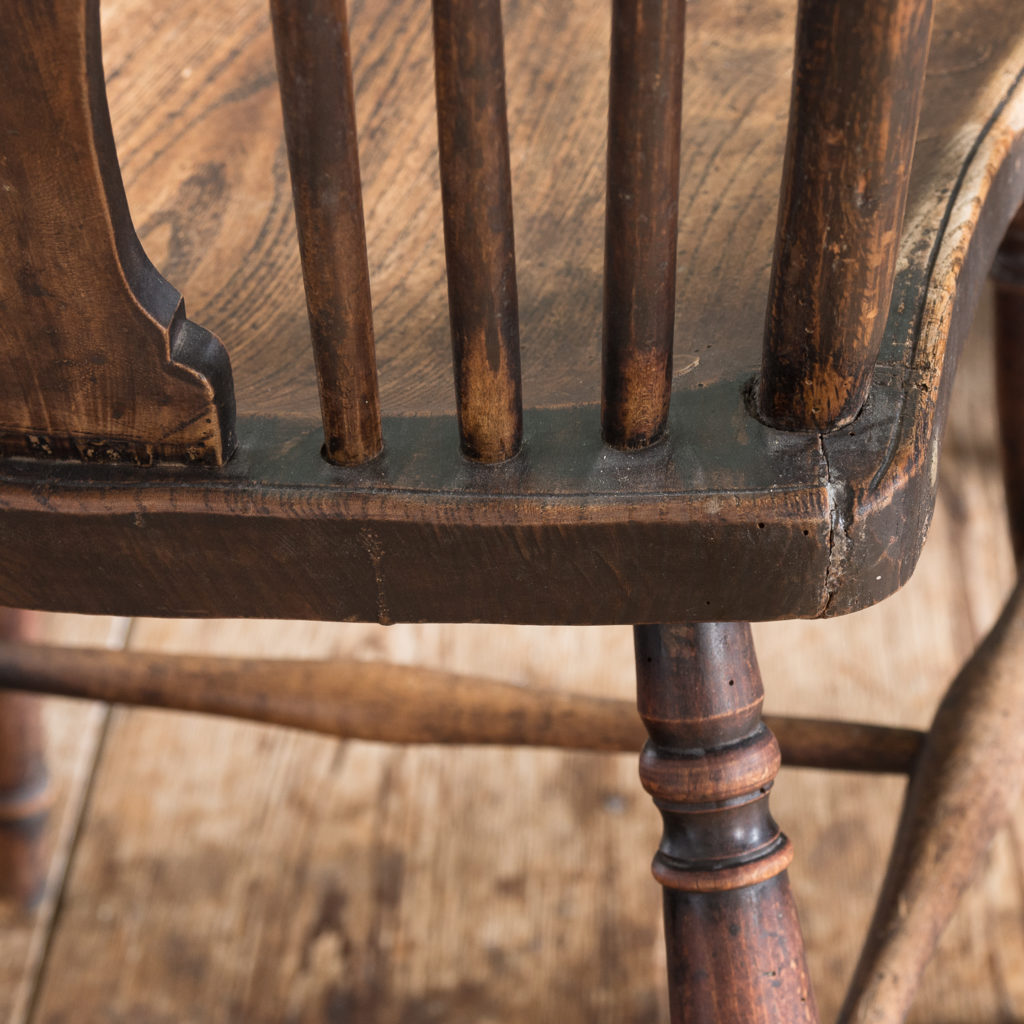 Matched set of six wheel back Windsor chairs,-116748