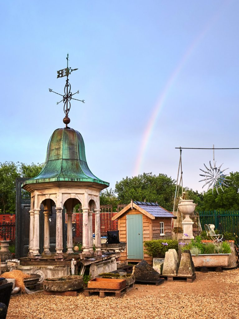 Rainbow over the Three Pigeons Inn