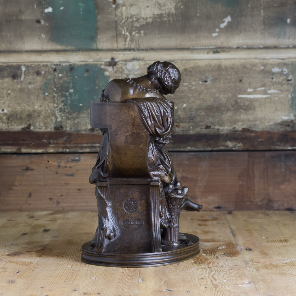 French nineteenth century bronze sculpture of Penelope waiting for Odysseus,-117037