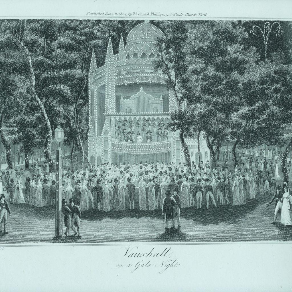 1804 etching of Vauxhall on Gala Night,-116328