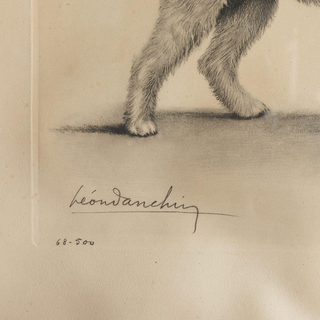 Original aquatint of Two Fox Terriers-116349