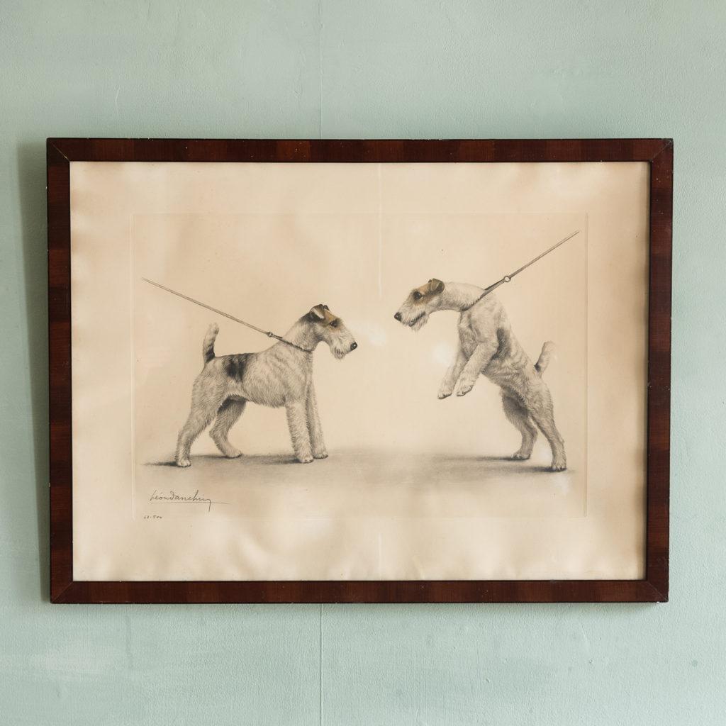 Original aquatint of Two Fox Terriers-0