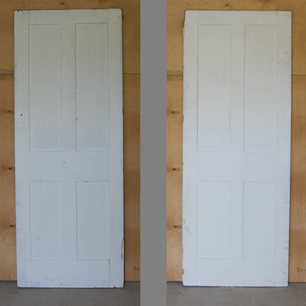 A Victorian painted four panel cupboard door-0
