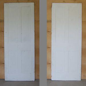 A Victorian painted four panel cupboard door-0