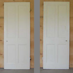An Edwardian painted four panel door-0