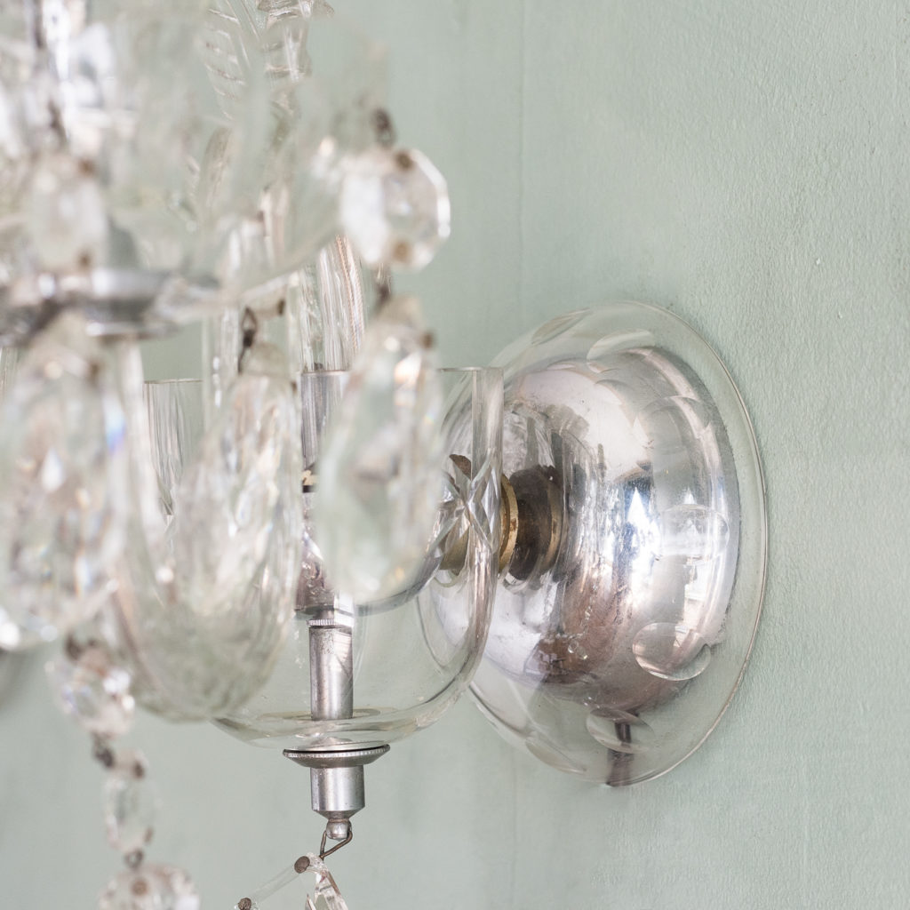 Twin light glass wall sconces,-117930