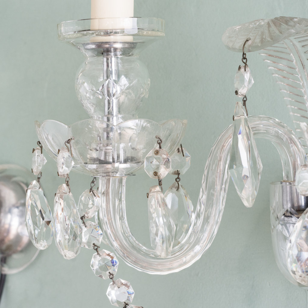 Twin light glass wall sconces,-117932