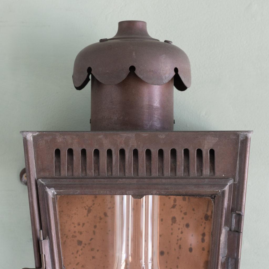 English copper stable lantern,-117547