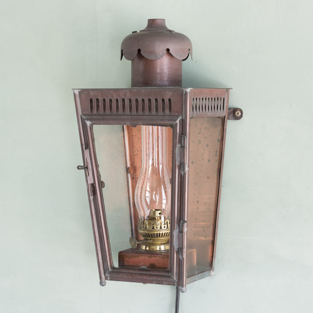 English copper stable lantern,-0
