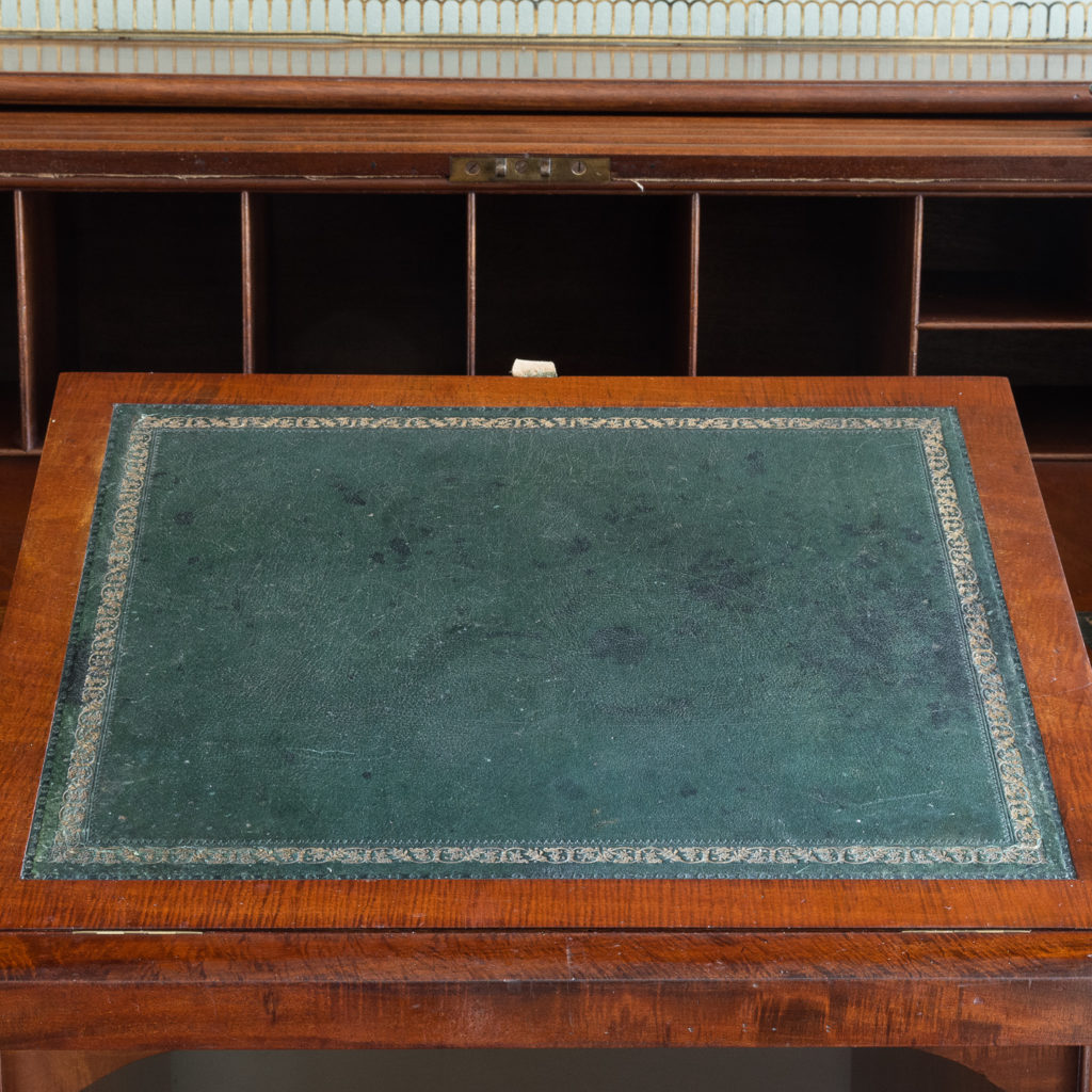 Victorian mahogany cylinder desk,-117713