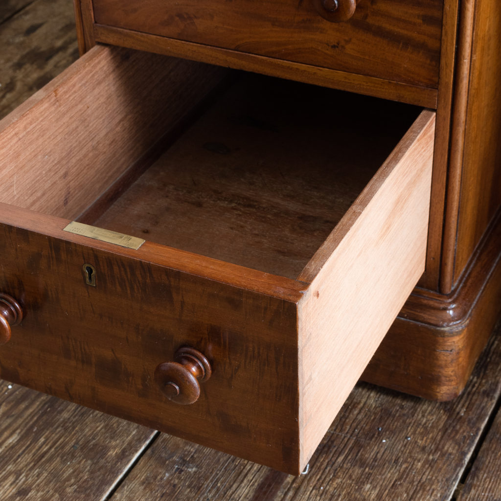 Victorian mahogany cylinder desk,-117724