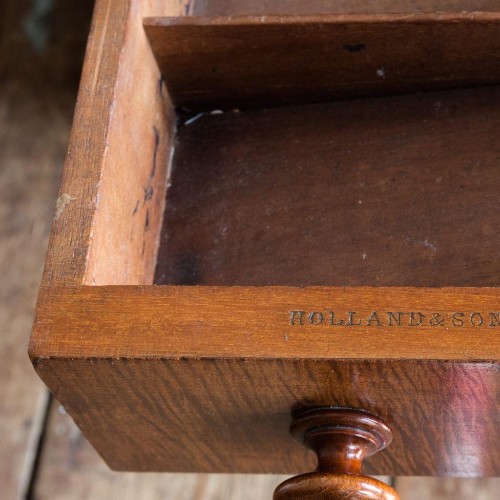 Victorian mahogany cylinder desk,-117709