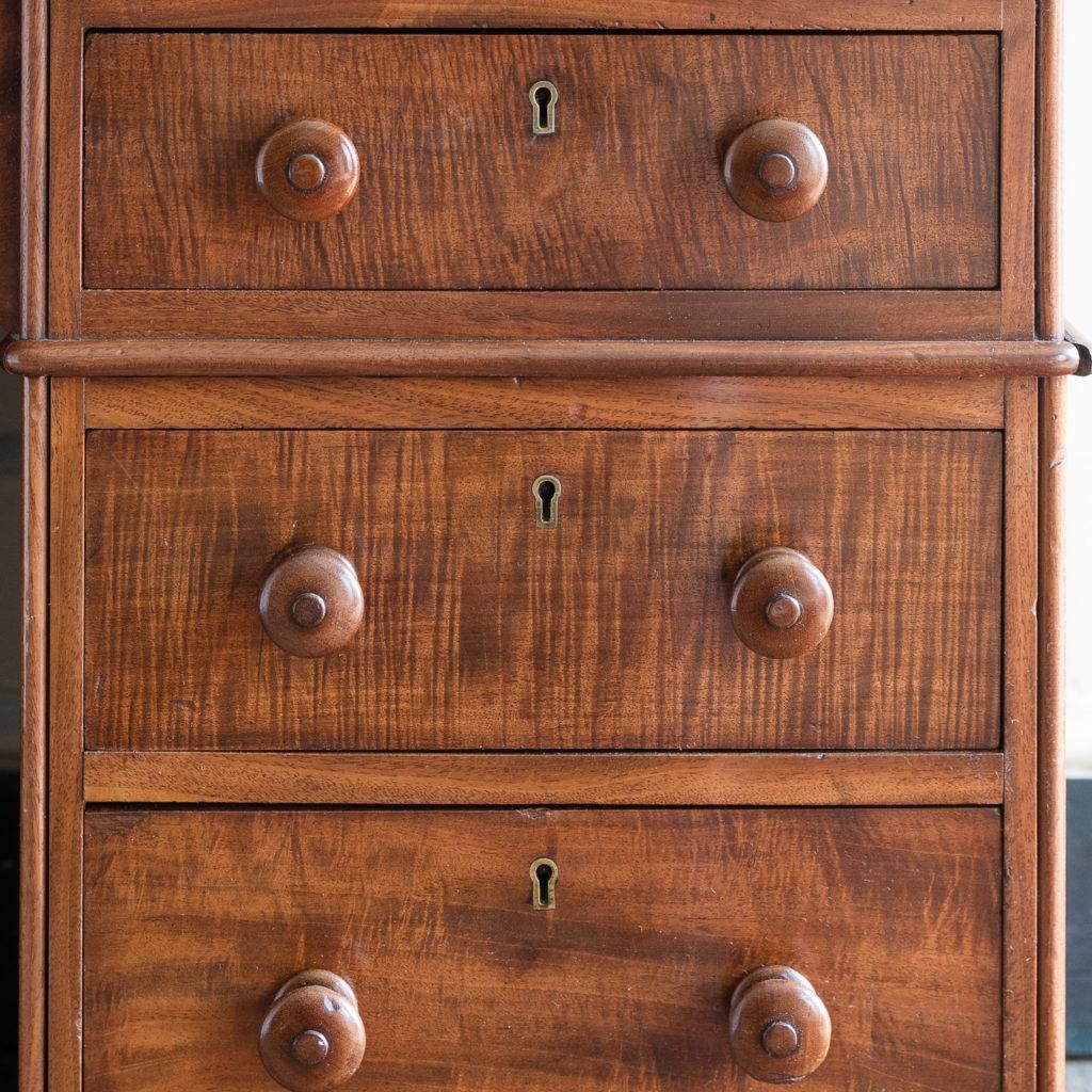 Victorian mahogany cylinder desk,-117701