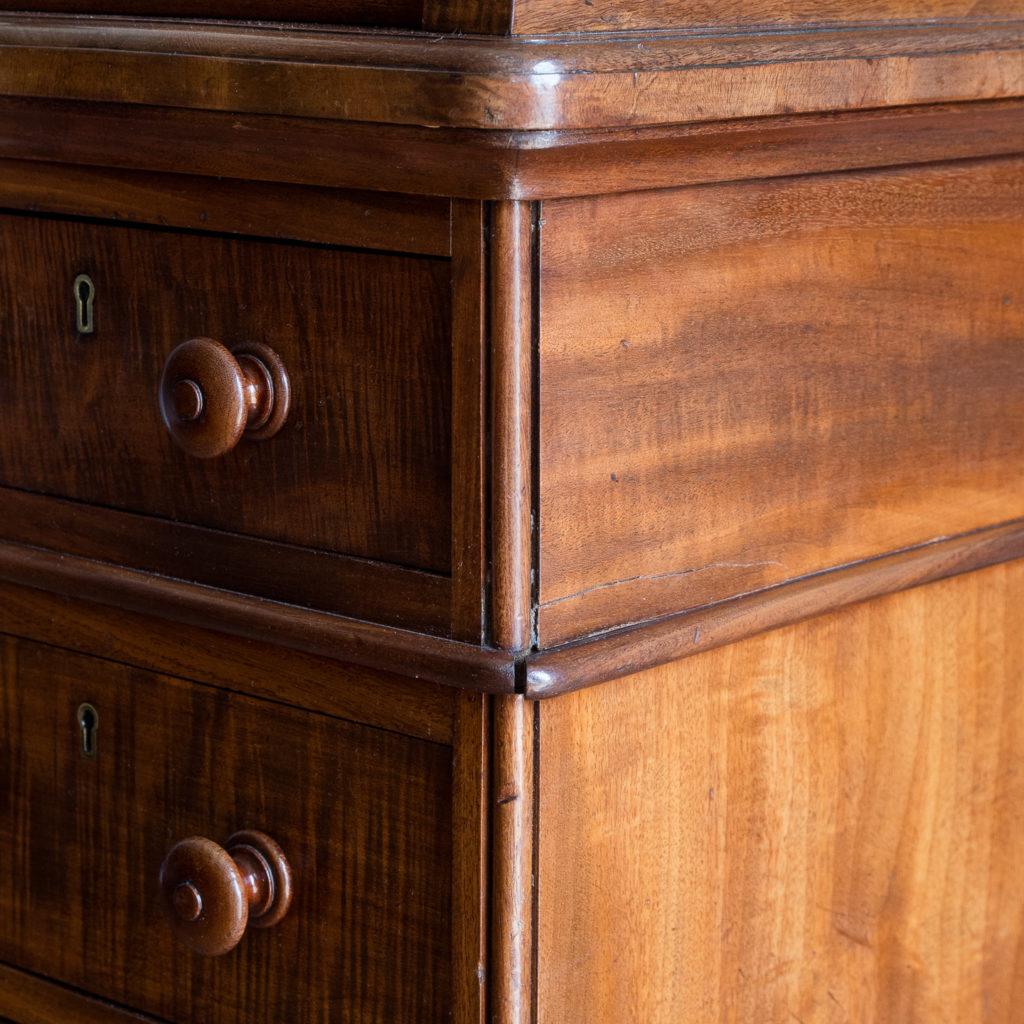 Victorian mahogany cylinder desk,-117699