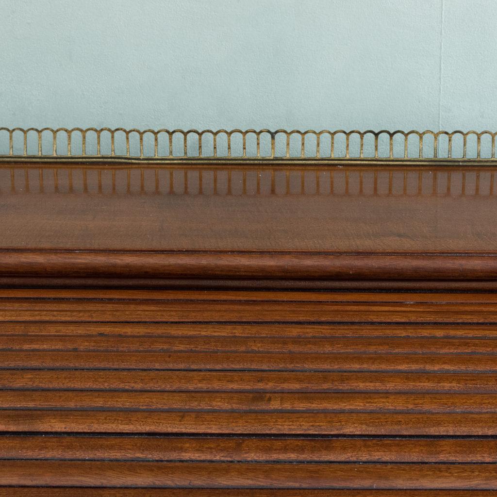 Victorian mahogany cylinder desk,-117708