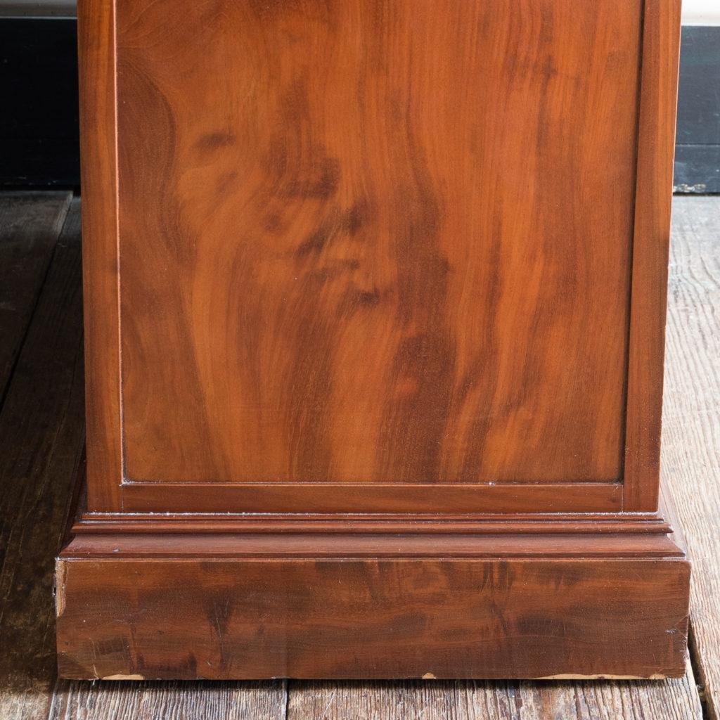 Victorian mahogany cylinder desk,-117722