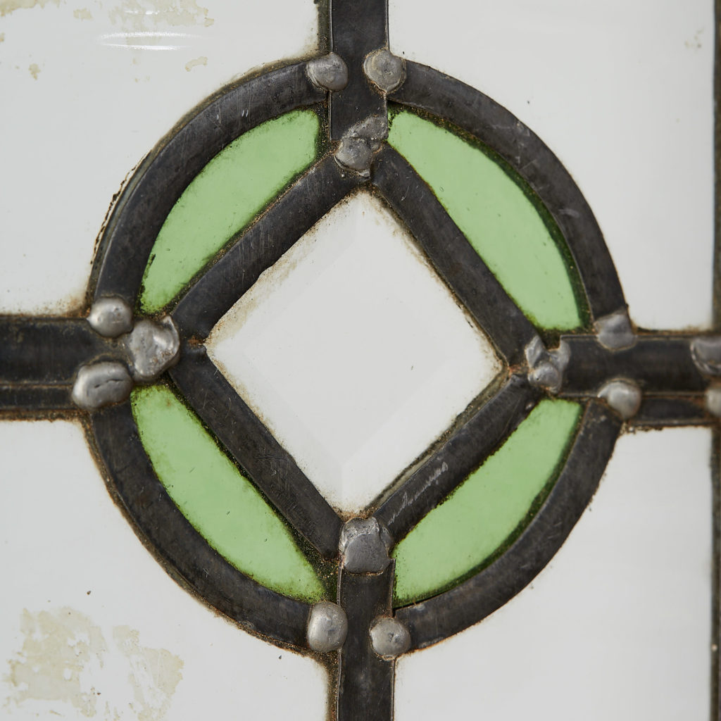 A pair of stained glass panels,-118121