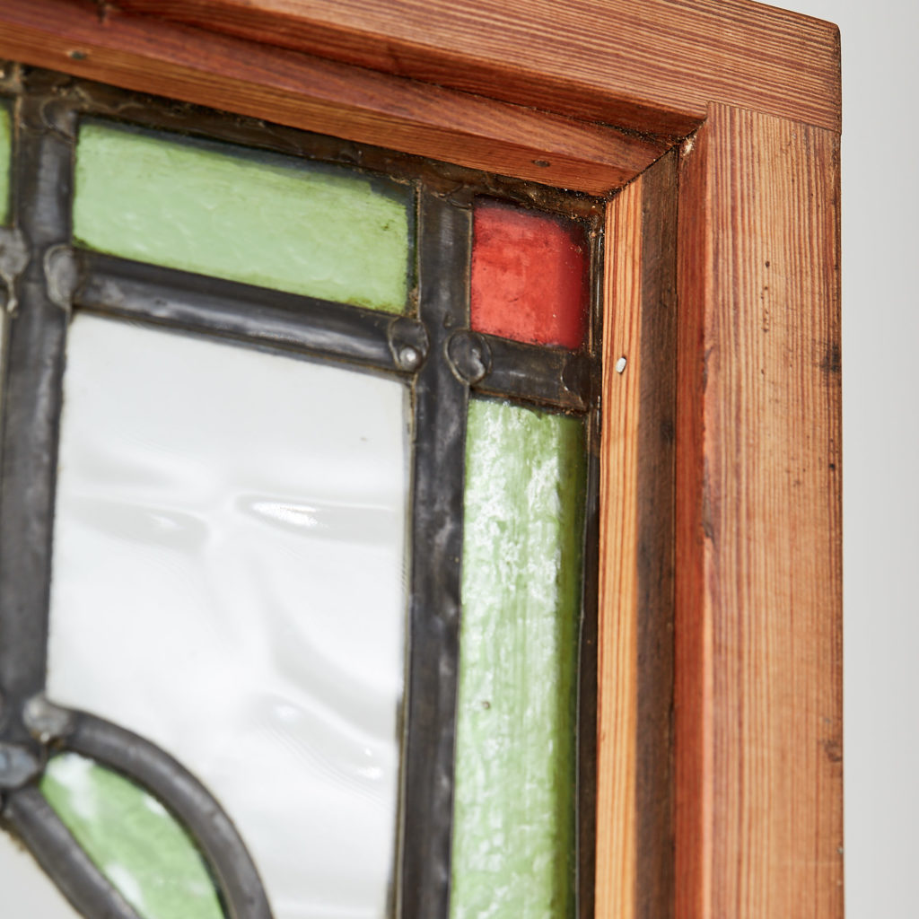 A pair of stained glass panels,-118123