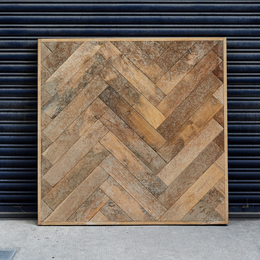 Large block Normandy oak parquet with oak boarder,-0