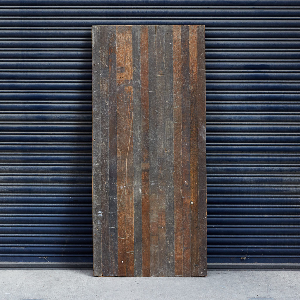 Reclaimed oak strip table top,-0