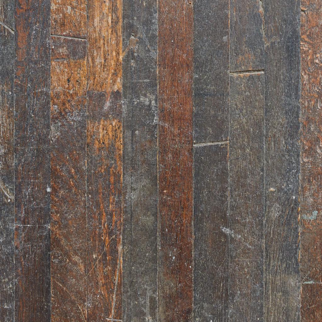 Reclaimed oak strip table top,-118176