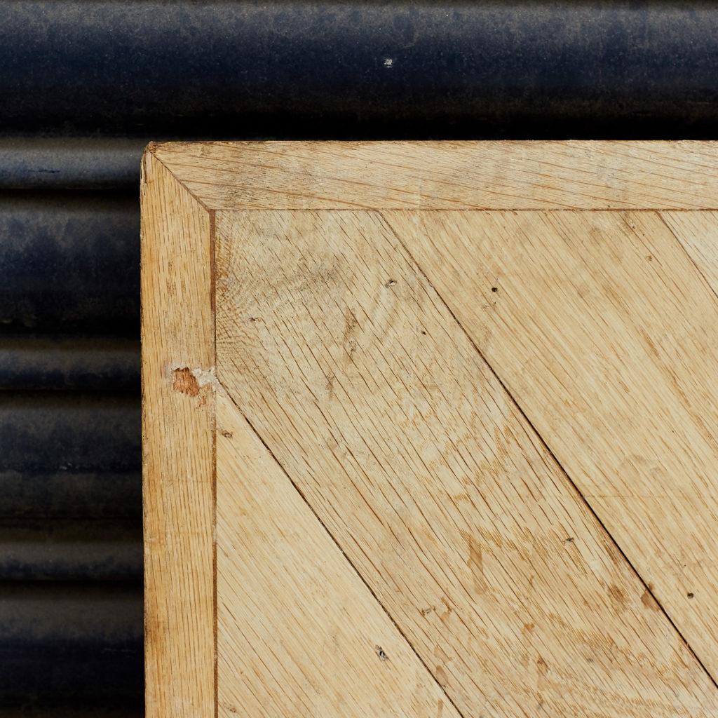 Pair of oak chevron console table tops,-118178