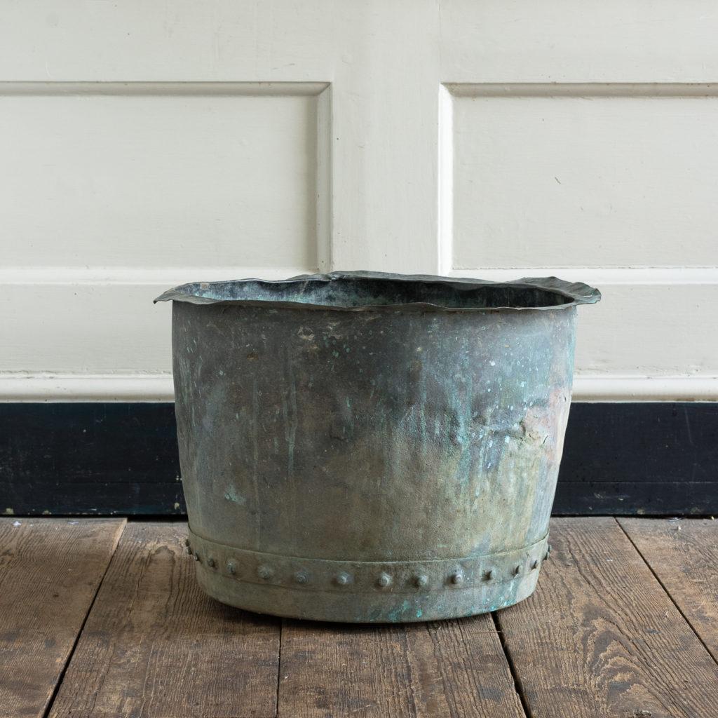 Nineteenth century copper vat,-118430