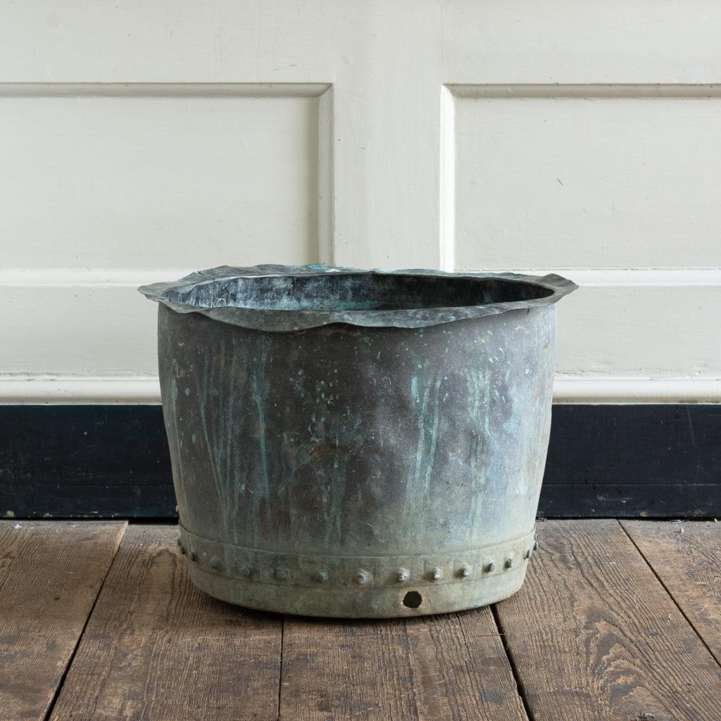 Nineteenth century copper vat,-118424