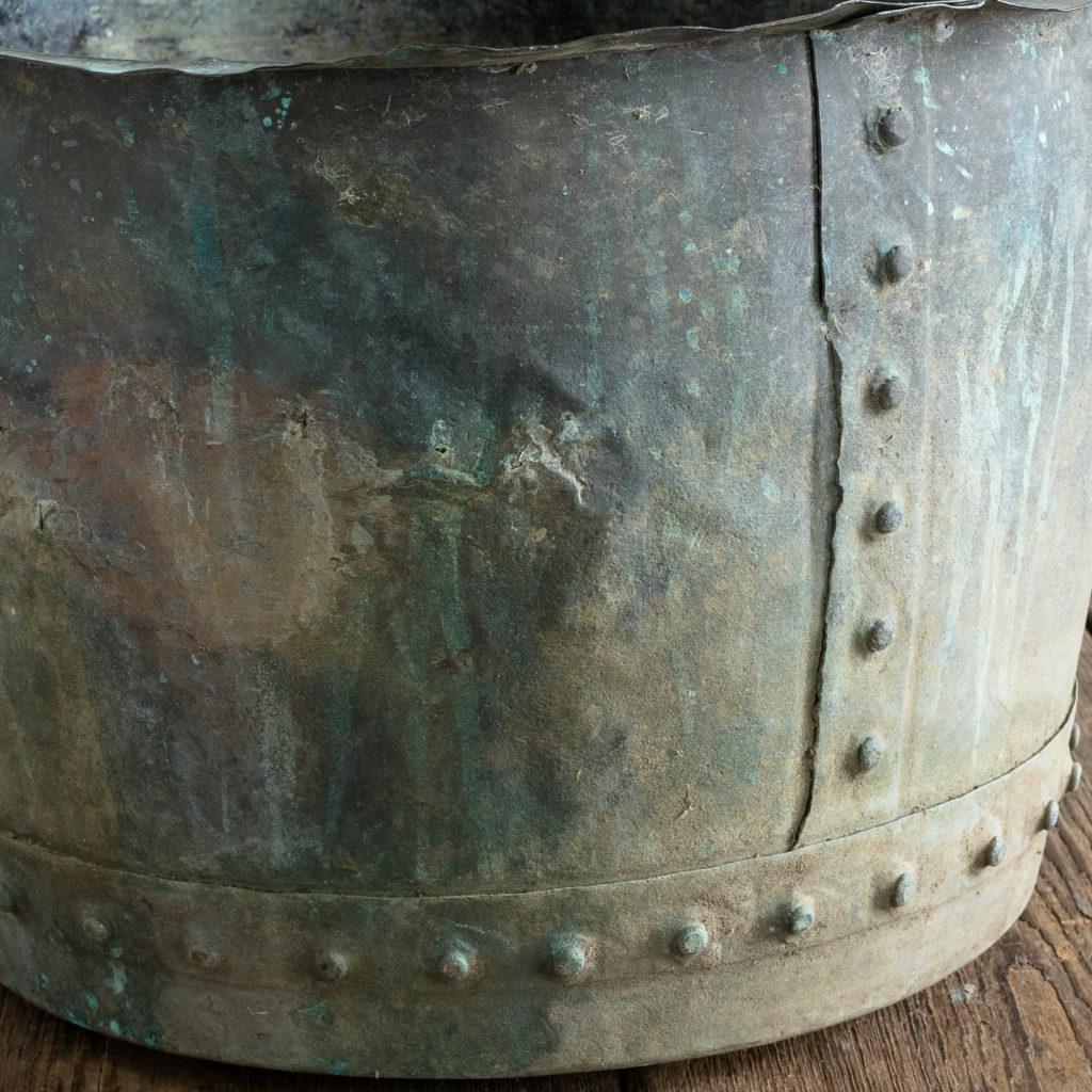 Nineteenth century copper vat,-118422