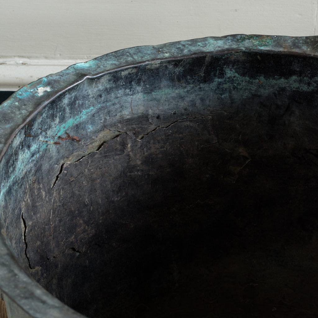Nineteenth century copper vat,-118428