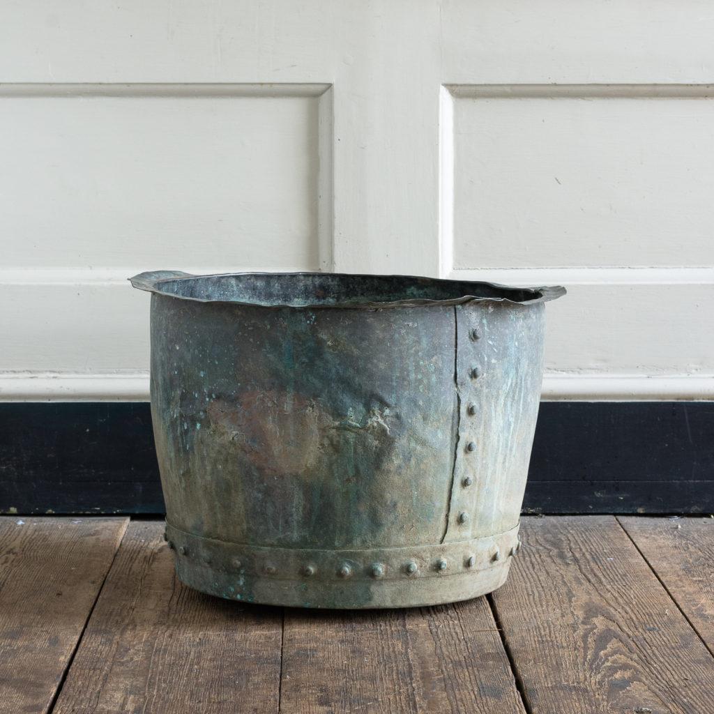Nineteenth century copper vat,-0