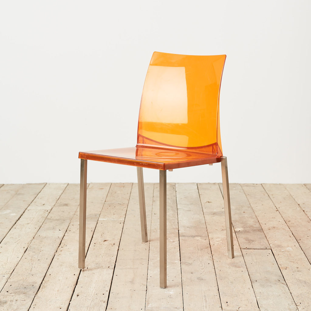 Contemporary acrylic chair by Pedrali, -119809
