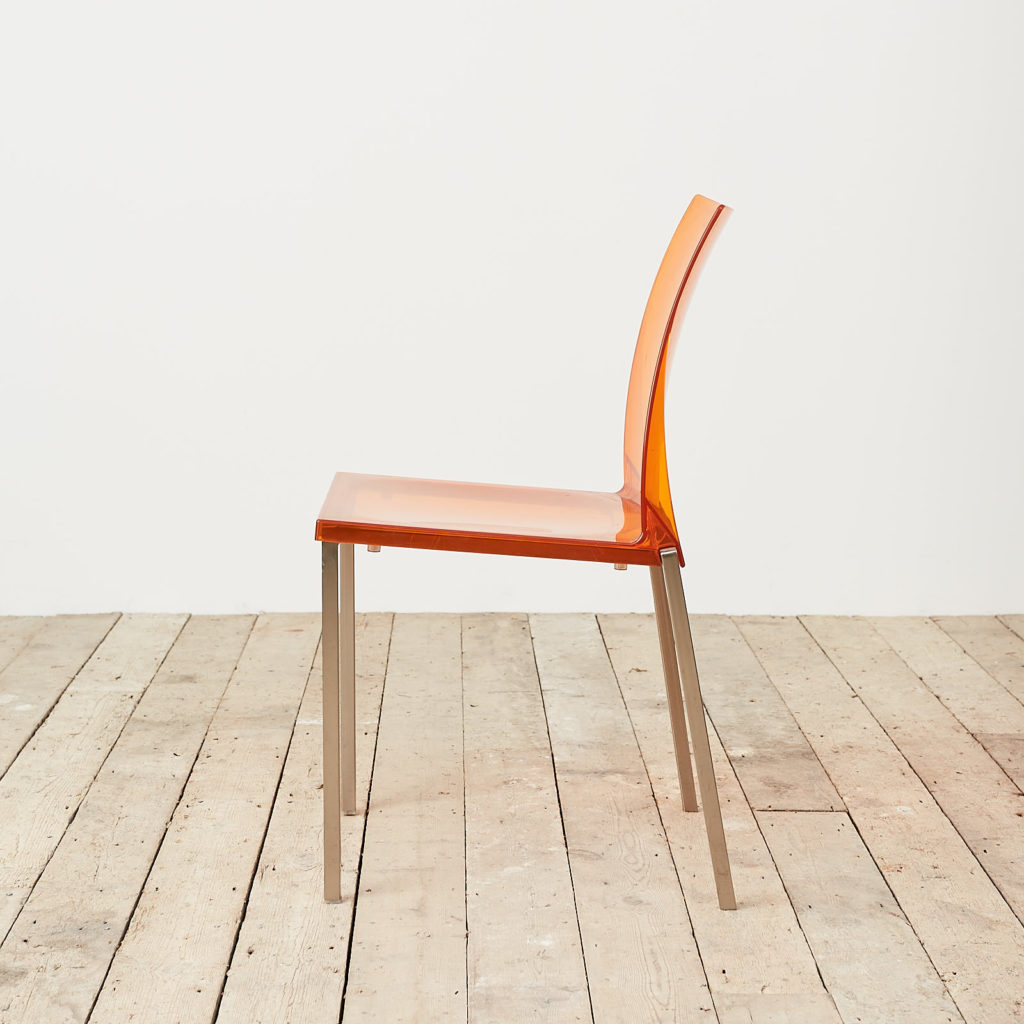 Contemporary acrylic chair by Pedrali, -119812