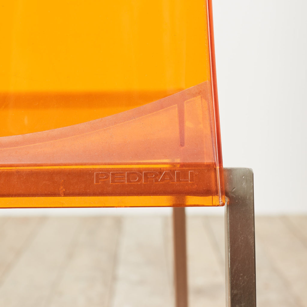 Contemporary acrylic chair by Pedrali, -119808