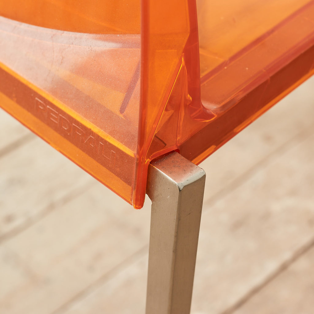 Contemporary acrylic chair by Pedrali, -119815