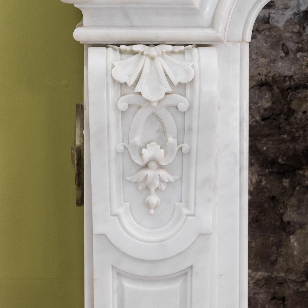 Louis XIV style Carrara marble chimneypiece,-118935