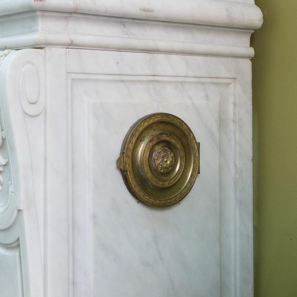 Louis XIV style Carrara marble chimneypiece,-118925