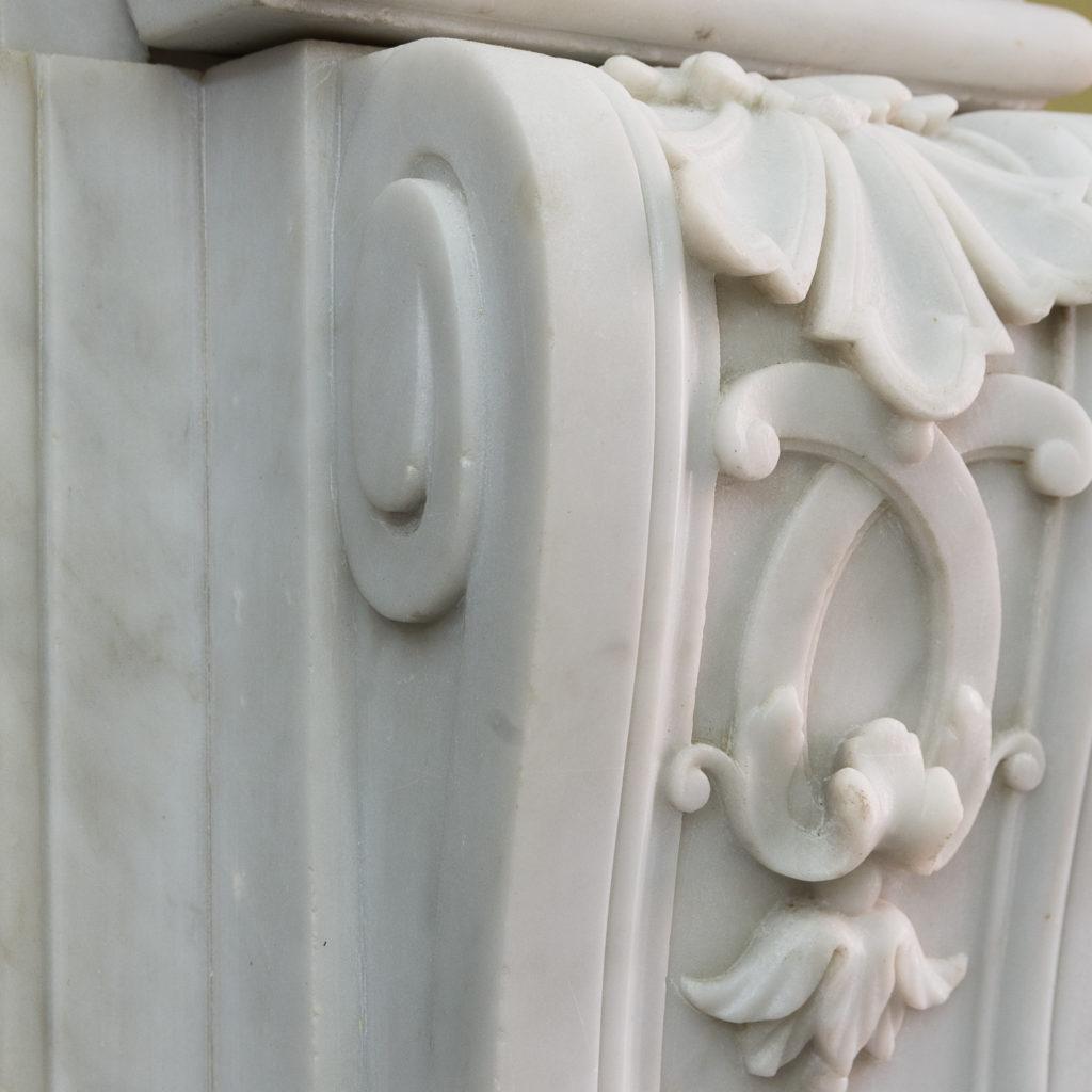 Louis XIV style Carrara marble chimneypiece,-118944